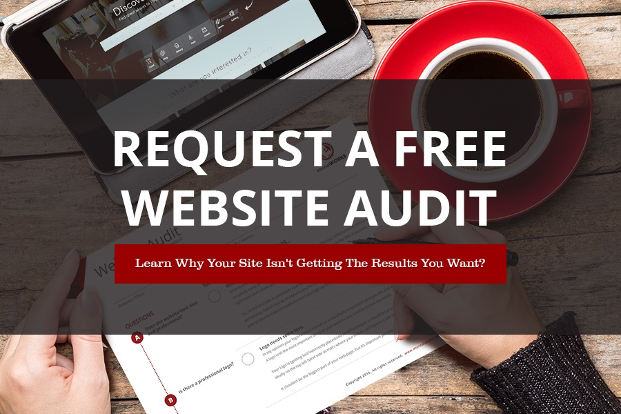 Request a free website audit image.