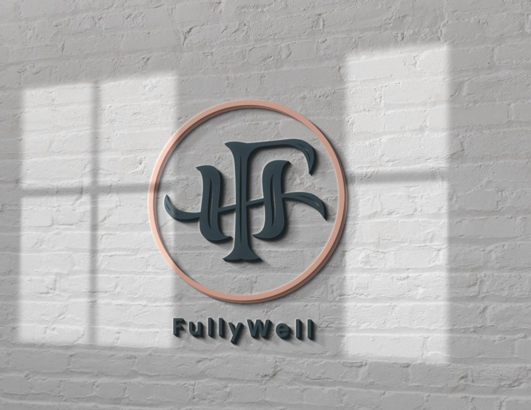 Fully Well - Logo on white brick-1