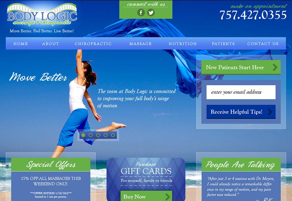 Body Logic's website redesign by Eternal Works