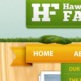 A preview of the Hawkesbury Farm website that links to the web design project by Eternal Works