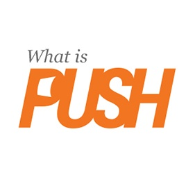 An image of the Push Start VA logo that links to the web design project by Eternal Works