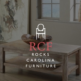 An image of kitchen furniture that links to the Rock's Carolina Furniture website redesign project by Eternal Works
